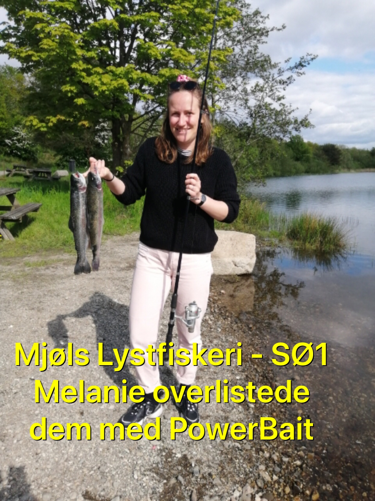 Melanie fangede aftensmade onsdag eftermiddag i Mjøls