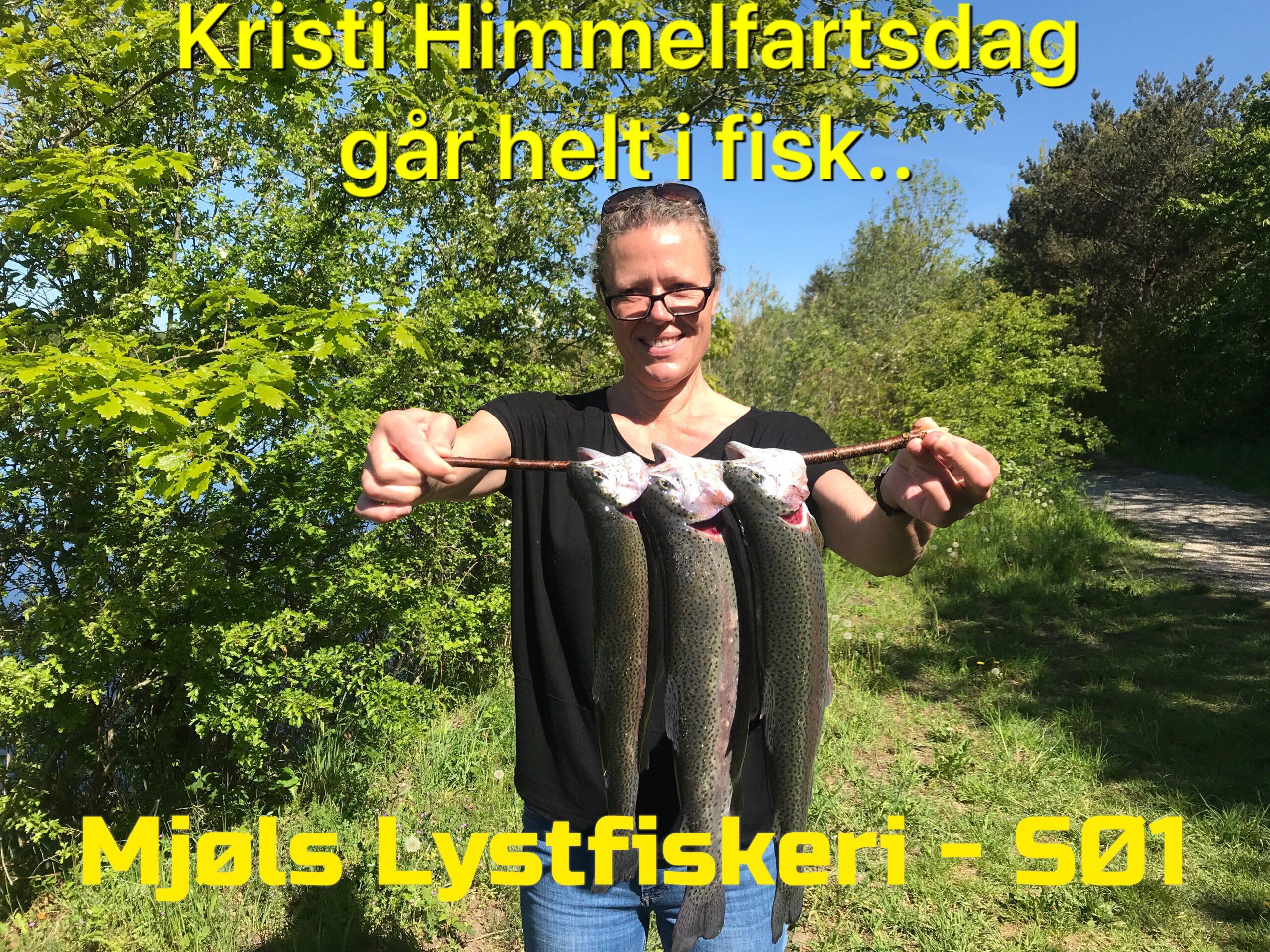 Skønne kvinder fanger også fisk i Mjøls Lystfiskeri