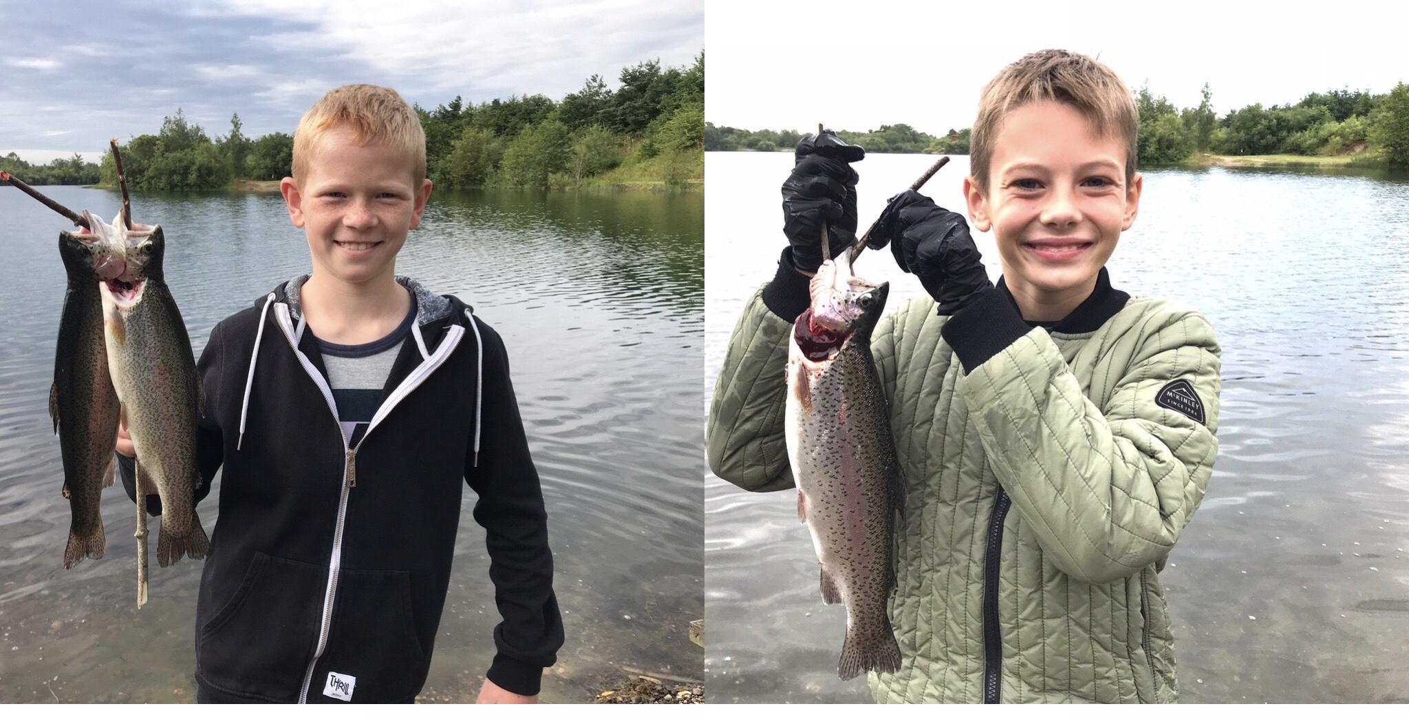 Mjøls Lystfiskeri: Benjamin og Matthias fangede aftensmaden