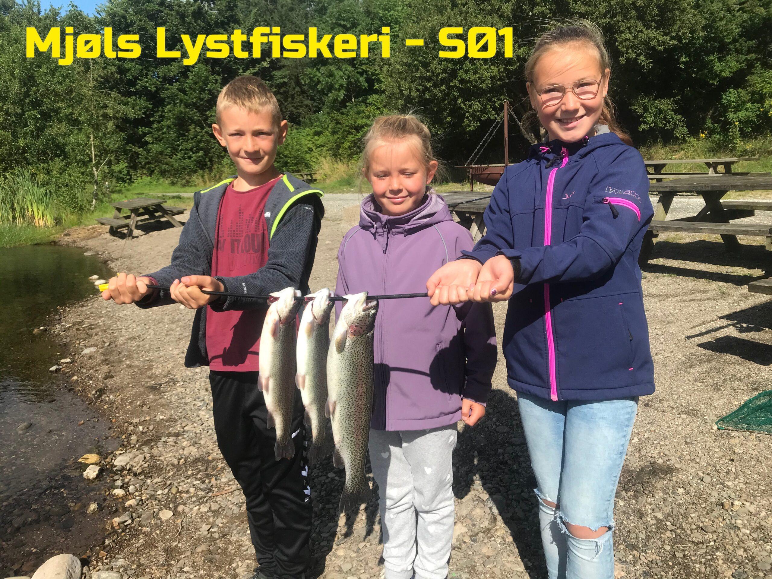 Aktiv Ferie-børn fangede fisk i dag