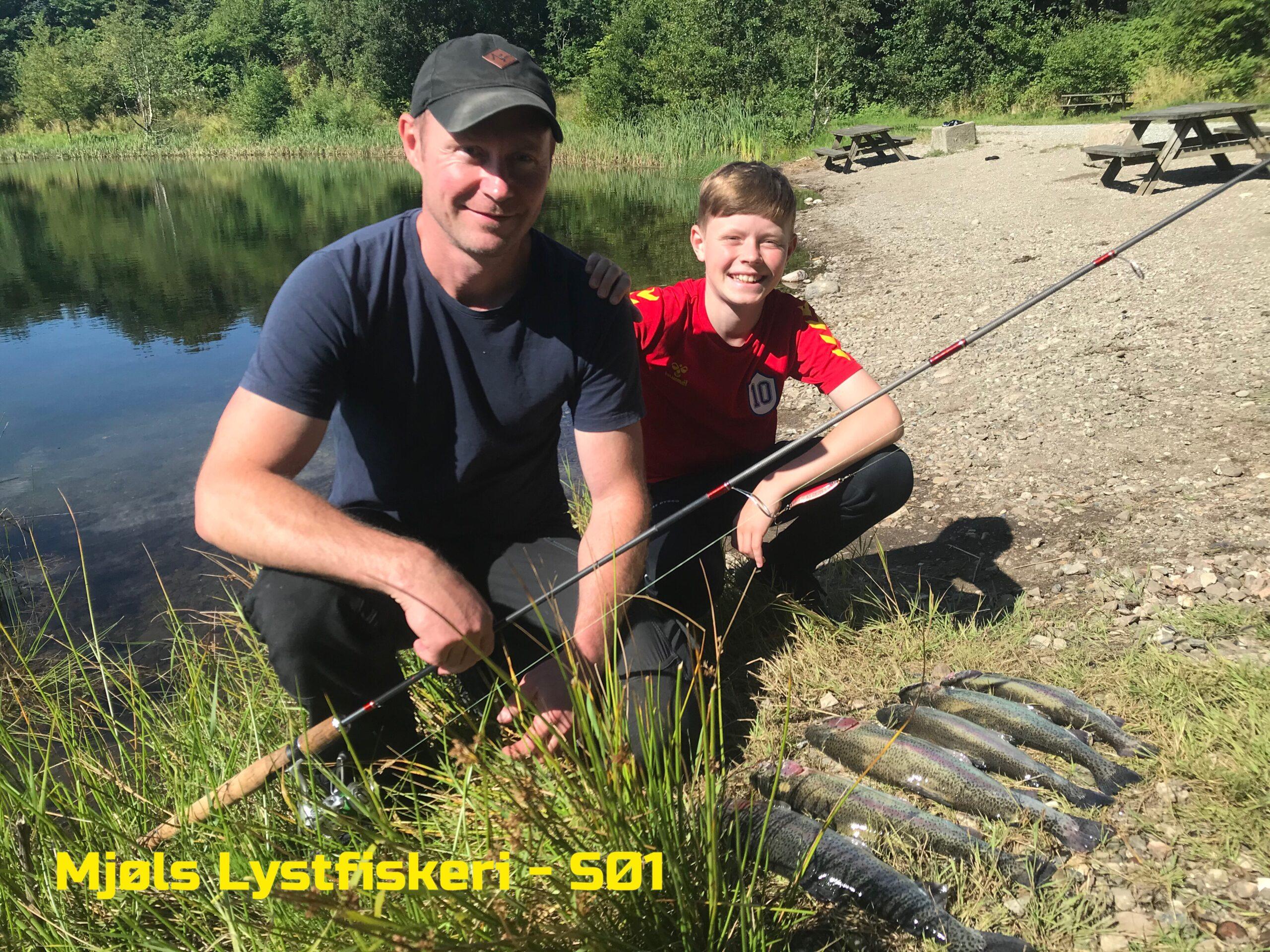 Fredag formiddag blev aftensmaden sikret i Mjøls Lystfiskeri