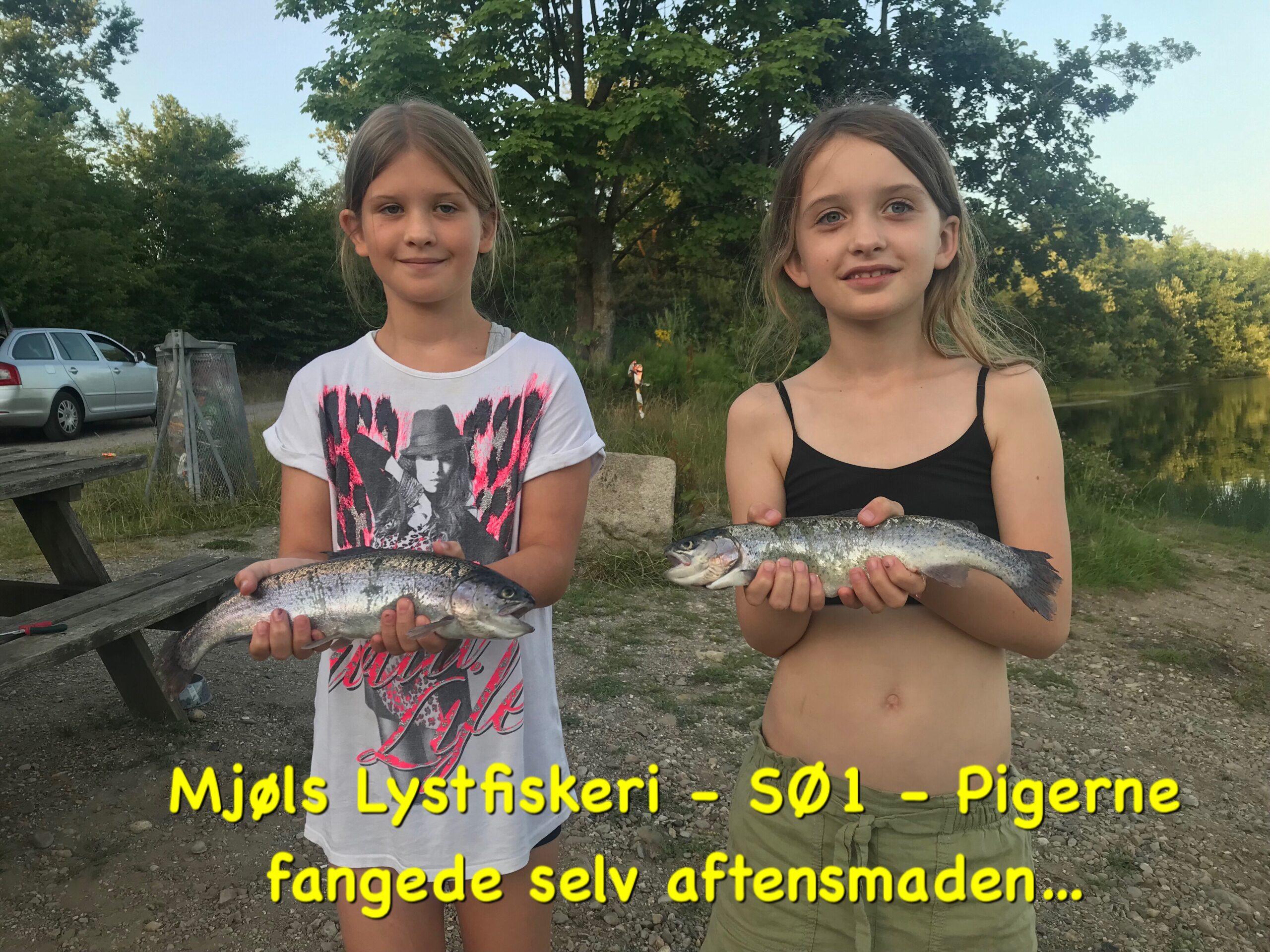 Mjøls Lystfiskeri – Pigerne fangede selv aftensmaden i SØ1 lørdag eftermiddag